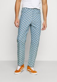 Vintage Supply - CHECKERBOARD WIDE LEG - Relaxed fit jeans - blue - 0