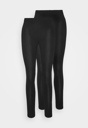2er pack 7/8 legging - Legginsy - black