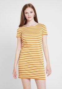 Vila - VITINNY NEW DRESS - Shift dress - golden oak/snow white - 0