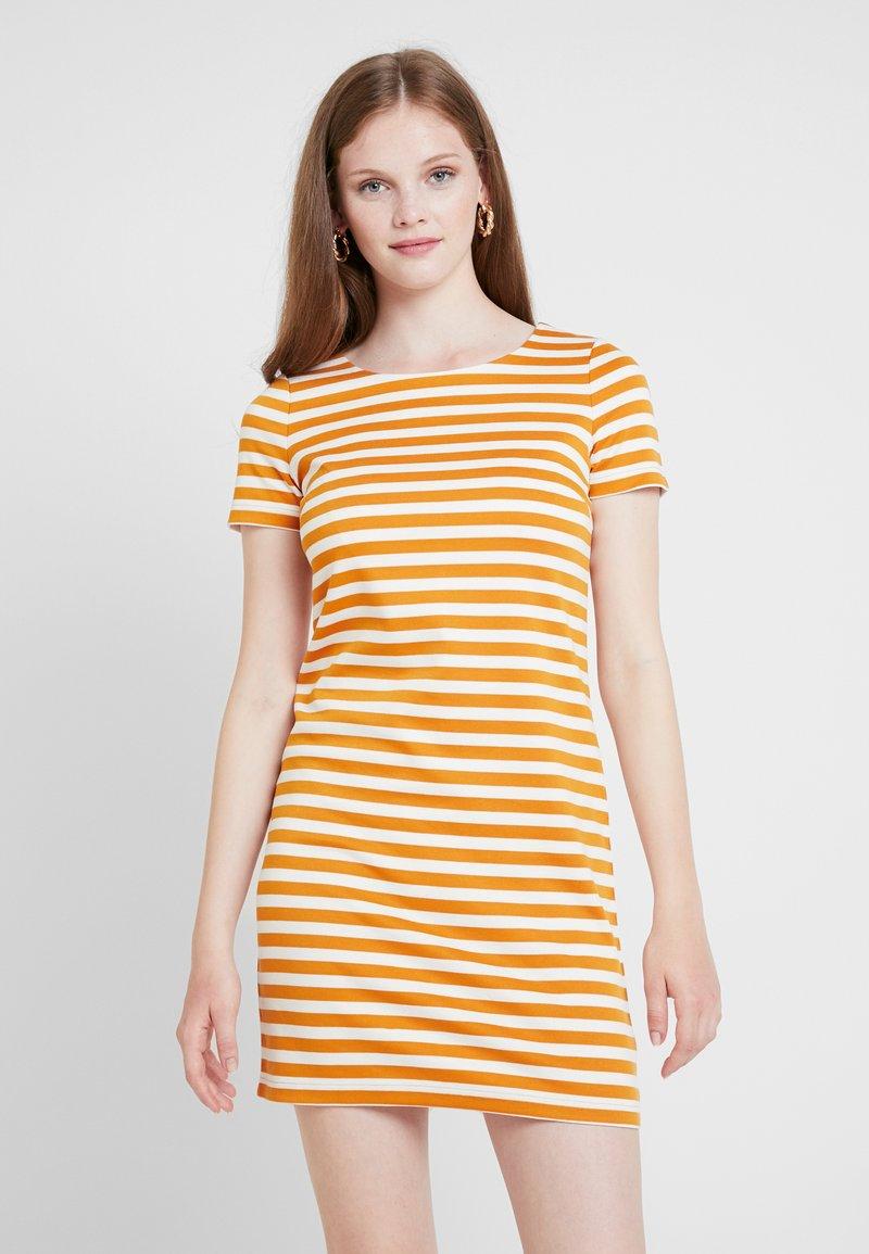 Vila - VITINNY NEW DRESS - Shift dress - golden oak/snow white