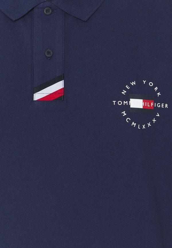 Tommy Hilfiger PLACKET - Koszulka polo - yale navy/granatowy Odzież Męska AINX