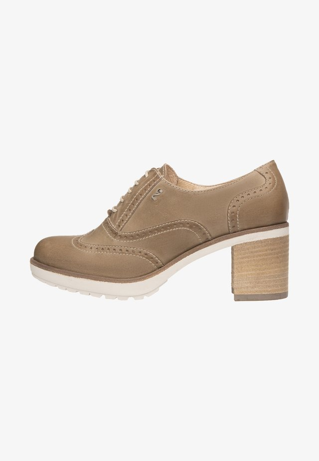 Lace-up ankle boots - tortora