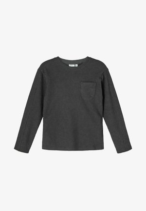 Langarmshirt - dark slate