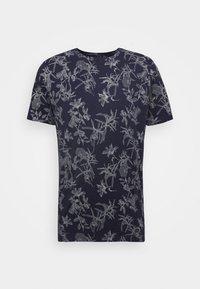 JANNIK TEE - Print T-shirt - evening blue