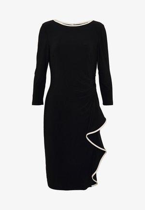 MID WEIGHT DRESS - Pouzdrové šaty - black/cream