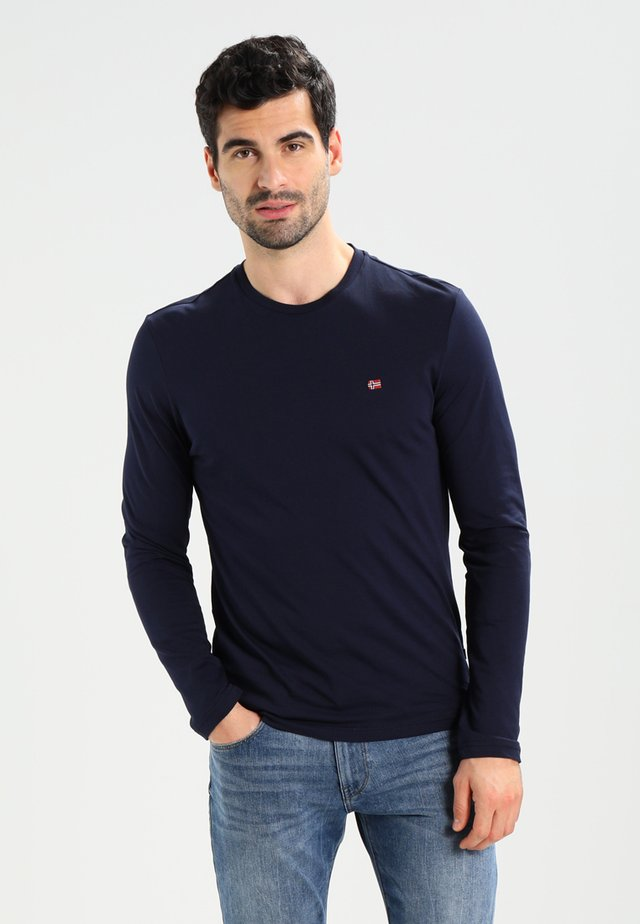 SENOS LS - Long sleeved top - blu marine
