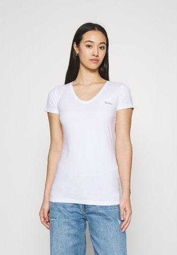 BEA 2 PACK - Basic T-shirt - black/white