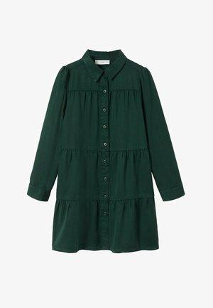 Sukienka koszulowa - donkergroen
