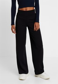 Gina Tricot - JENNER TROUSERS - Trousers - black - 0