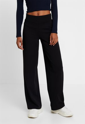 JENNA WIDE LEG TROUSERS - Kangashousut - black