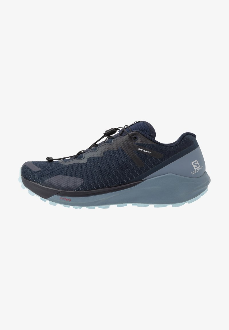 Salomon - SENSE RIDE 3 - Løbesko trail - navy blazer/flint