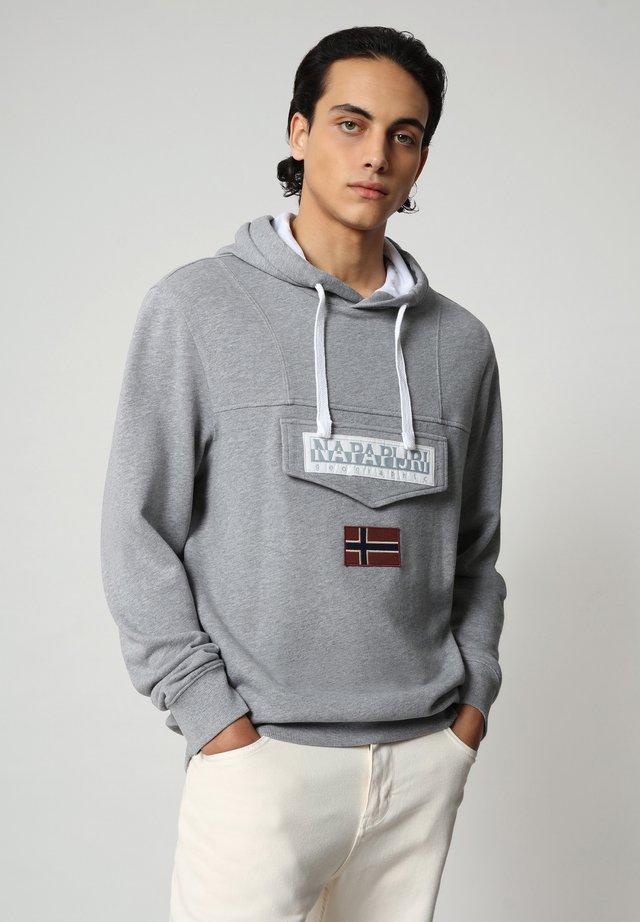 BURGEE SUMMER - Jersey con capucha - medium grey melange