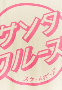 Santa Cruz - EXCLUSIVE PASTEL JAPANESE DOT UNISEX - Print T-shirt - bone - 2