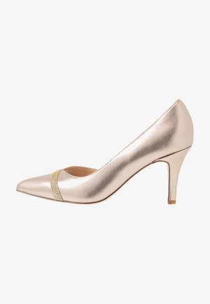 LEATHER CLASSIC HEELS - Escarpins - gold