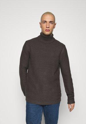 ONSLOCCER - Stickad tröja - grey pinstripe