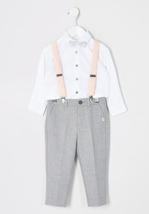 MINI BOYS GREY TROUSERS AND BRACES OUTFIT - Trousers - grey