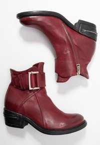 A.S.98 - Cowboy/biker ankle boot - cardinal - 3