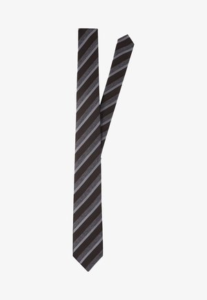 Tie - dunkelbraun gestreift