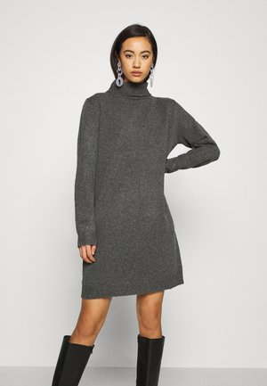 JDY BRILLIANT ROLLNECK - Robe pull - dark grey melange