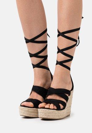 ANISKA - Sandales à plateforme - black