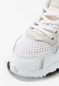 adidas Originals - NITE JOGGER - Slip-ons - footwear white/crystal white - 2