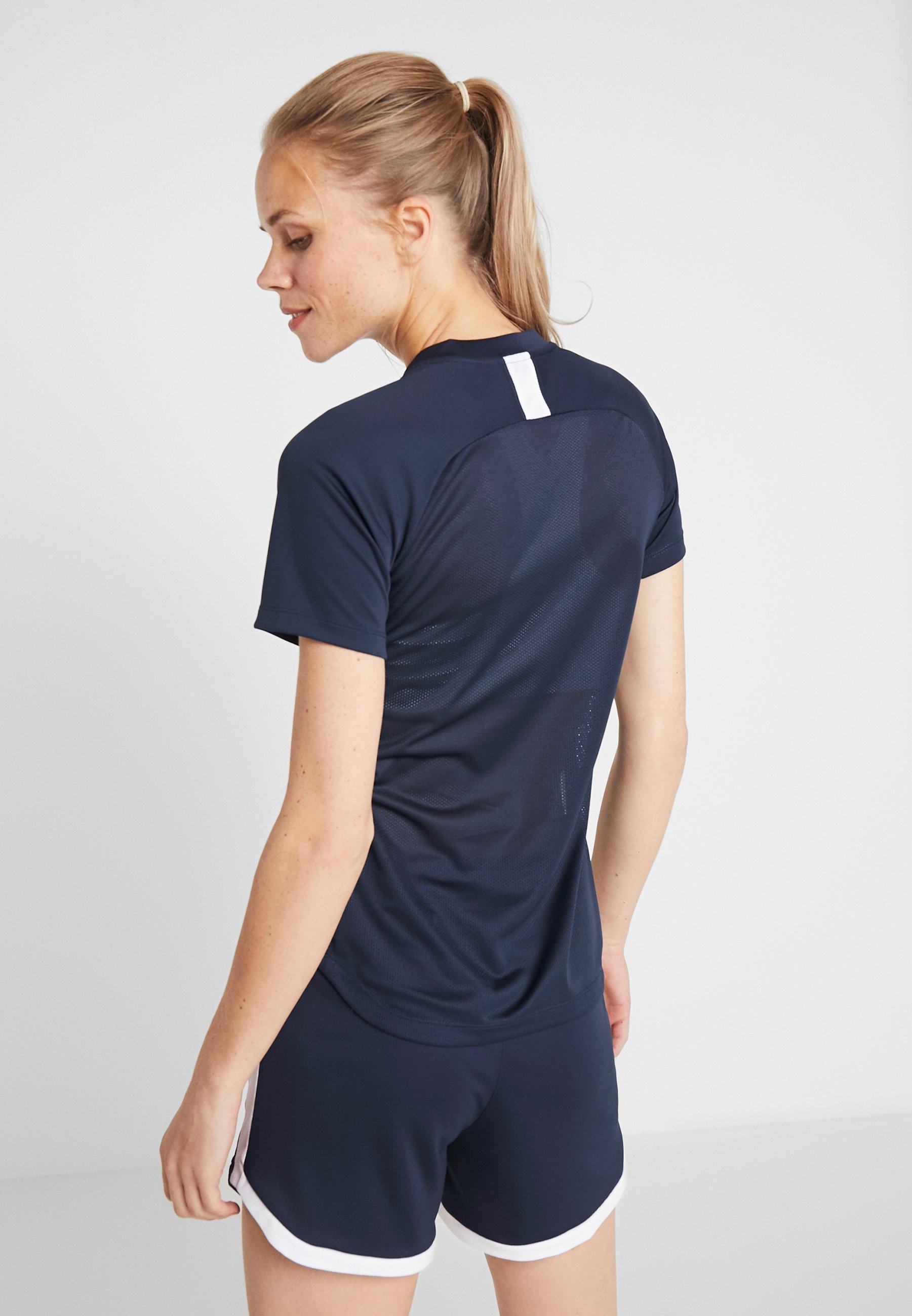 Nike Performance DRY ACADEMY 19 - Print T-shirt - obsidian/white ZbtIj
