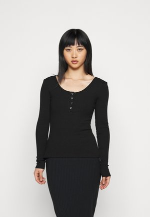 PCKITTE - Long sleeved top - black