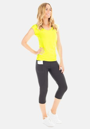 Print T-shirt - neon gelb