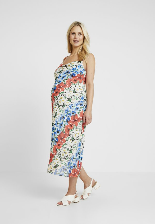 GLITCH FLORAL DRESS - Maxi dress - multi-coloured