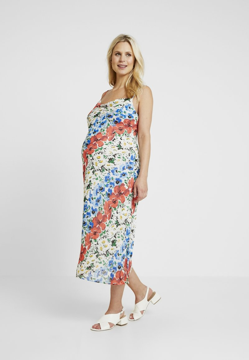 Topshop Maternity - GLITCH FLORAL DRESS - Maxi dress - multi-coloured