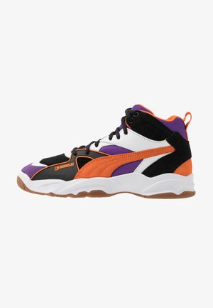 PERFORMER MID THE HUNDREDS - Vysoké tenisky - black/persimmon orange