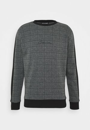 CHECKED CREWNECK - Mikina - black