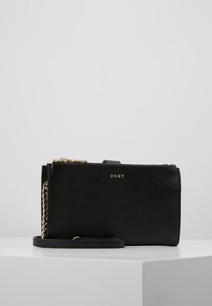 BRYANT DOUBLE ZIP CBODY WALLET - Skulderveske - black/gold-coloured