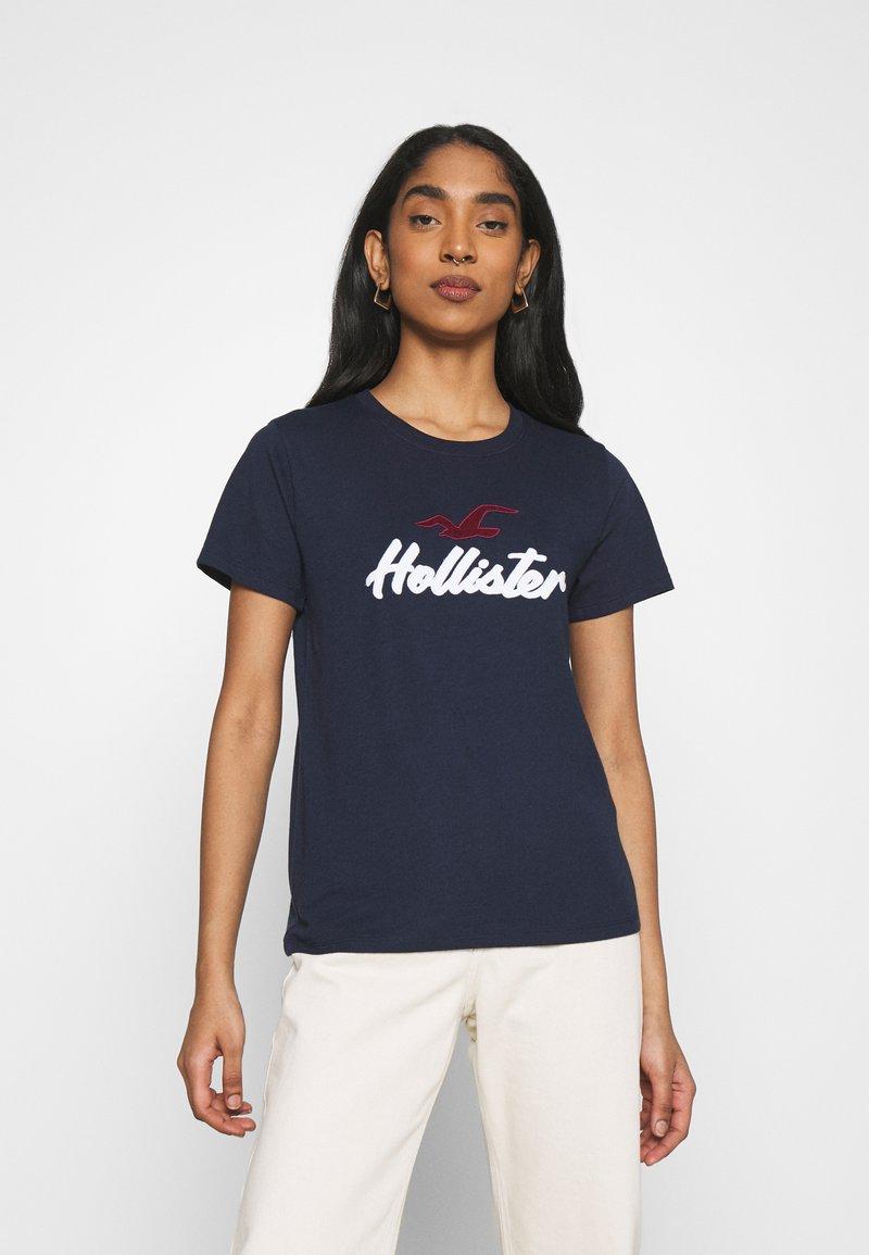 Hollister Co. - TIMELESS - Print T-shirt - navy
