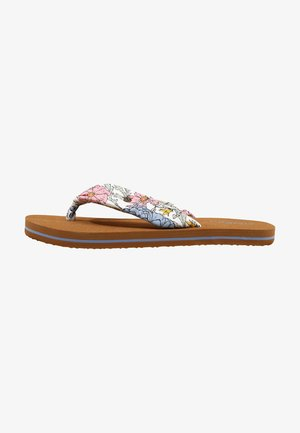 DITSY SUN - T-bar sandals - white all over print