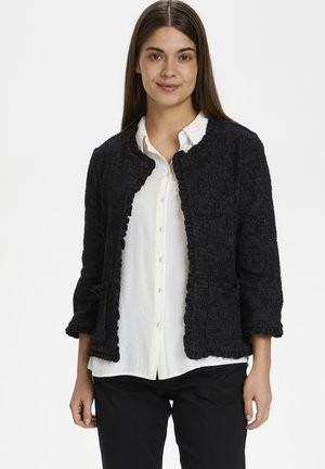 Cardigan - pitch black melange