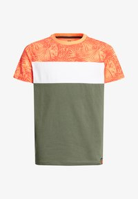 WE Fashion - MET COLOURBLOCK - Print T-shirt - red - 3