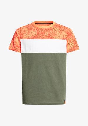 MET COLOURBLOCK - T-shirt z nadrukiem - red