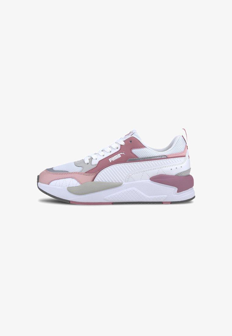 Puma - X-RAY 2 SQUARE - Trainers - white-wht-foxglove-peachskin