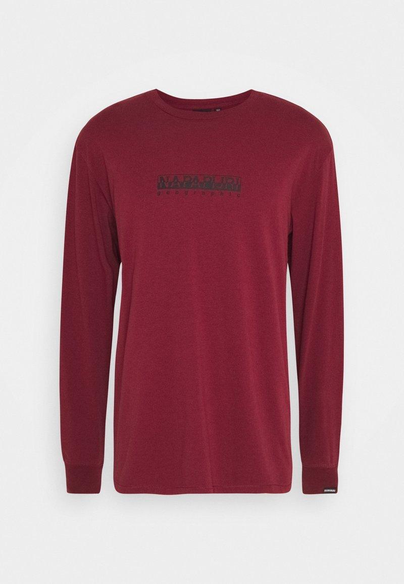 Napapijri The Tribe - BOX UNISEX - Långärmad tröja - vint amaranth
