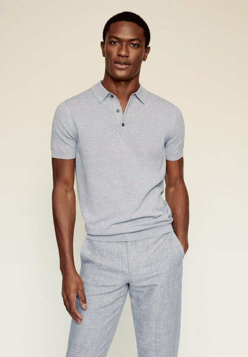 Mango - ANDREW - Poloshirt - medium heather grey