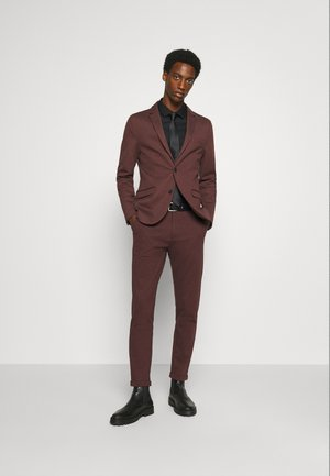 SUPERFLEX SUIT - Suit - bordeaux mix