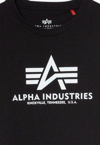 Alpha Industries - BASIC KIDS TEENS - Print T-shirt - black - 3