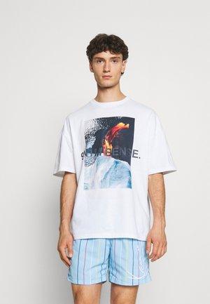 VULKAN UNISEX - Print T-shirt - white