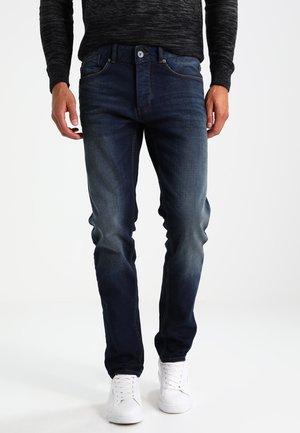 Slim fit jeans - dark worn