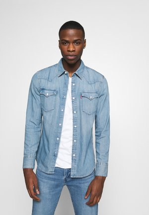 BARSTOW WESTERN SLIM - Shirt - dark indigo - worn in