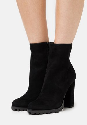 TEALITH - High heeled ankle boots - black