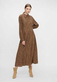 YAS - MIT LANGEN ÄRMELN YASLALLA - Shirt dress - capulet olive - 1