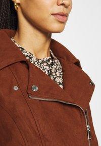 JDY - Faux leather jacket - cherry mahogany - 5