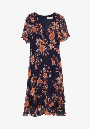 FLORAL DOBBY MIDI DRESS - Kjole - ink
